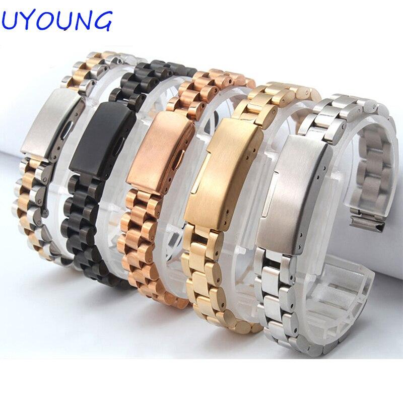 10mm12mm14mm Kleine Größe Armband Hohe Qualität Edelstahl Marke Allgemeine Feine Stahl Schnalle