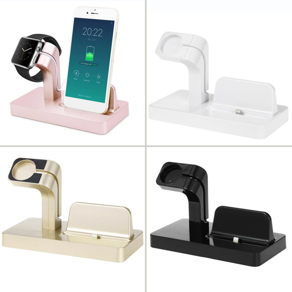2 in 1 Lade Dock Für Apple Ladegerät Halter Für Apple Uhr Für iPhone 6/6 plus/6 s/7 plus Telefon Uhr Halterung Für Apple Serie