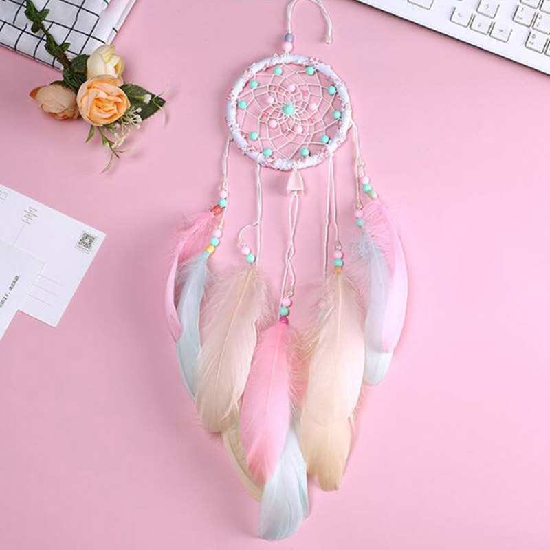 2018 Colorful Big Feathers Handmade Dream catcher Bedroom Decoration Dreamcatchers Wind Chimes &  Wall Hanging Home Decoration