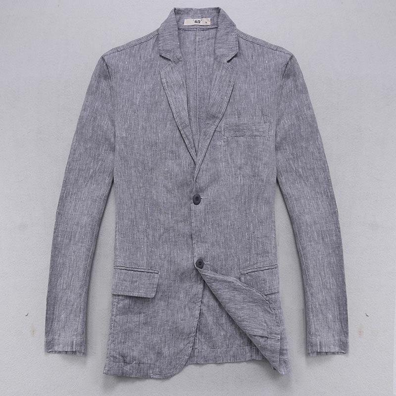 design di qualità 35c18 1a9e5 US $41.99 5% di SCONTO|Suhaiwe di marca giacca di lino uomini a manica  lunga di lino giacca sportiva degli uomini solido smart casual giacche da  uomo ...