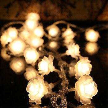Led Fada Luz Cordas Garland Flor Rosa 10 m 100 Leds 220 v Tira Luzes Para Casa Jardim Do Feriado Ao Ar Livre decoração do Ano novo