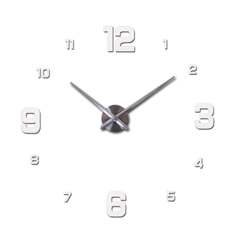 New Wall Clock Clocks Watch Horloge Murale Diy 3d Acrylic Mirror sticker Large Home Quartz Circular Needle Modern Free Shipping 11