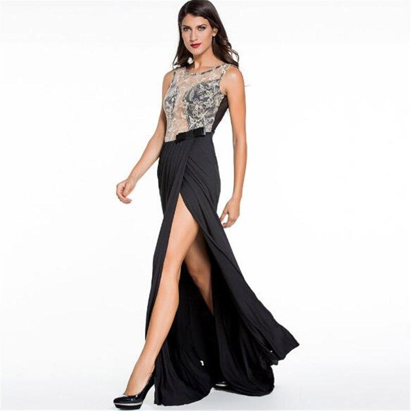 7ce279394 Echoine Formal Fishtail sirena Sexy encaje bordado de encaje de señora  Backless Maxi Vestidos de Gala vestido negro en Vestidos de La ropa de las  mujeres en ...