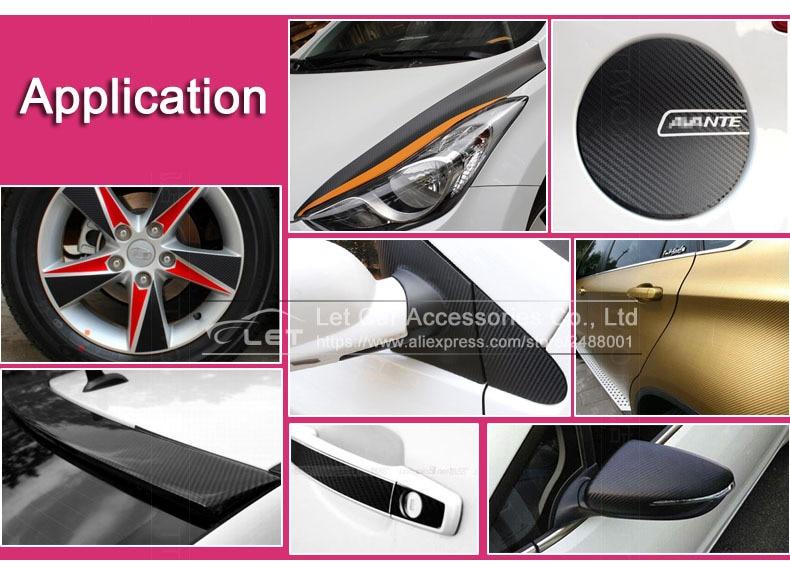 50cm Grigio ZERTRAN Car Styling Impermeabile Adesivo per Auto 3D Fibra di Carbonio Film in Vinile Car Wrap DIY Autoadesivo Parte sintonia Auto 200 Verde