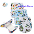 2016 Babyshow AIO Cloth Diapers Itself 2 Pcs 3 Layer Bamboo Fabric Super Absorbent Nappy Reusable TPU Waterproof Cloth Diapers