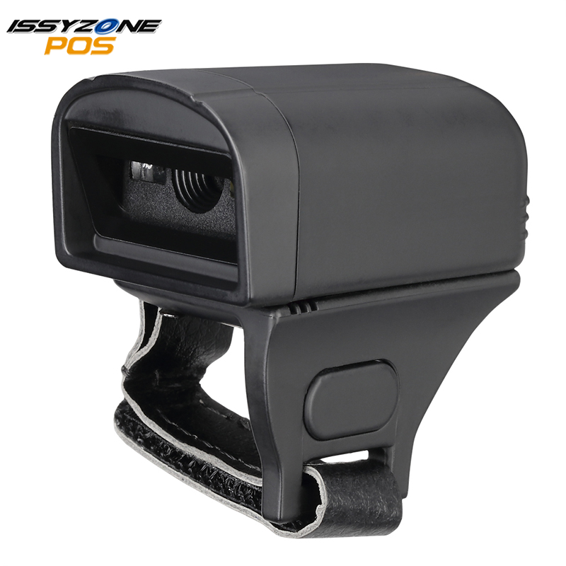 ISSYZONEPOS Ring Barcode Scanner Bluetooth 2D QR CCD 1D Barcode Portable Scanner for Logistic Warehouse Windows