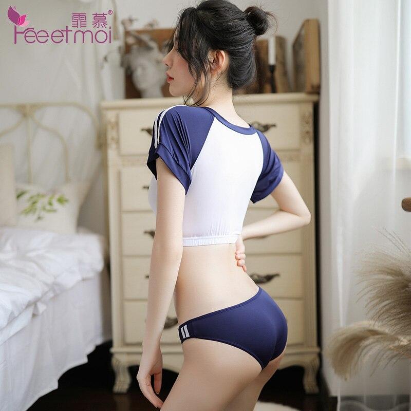 Butt asian panties uniform