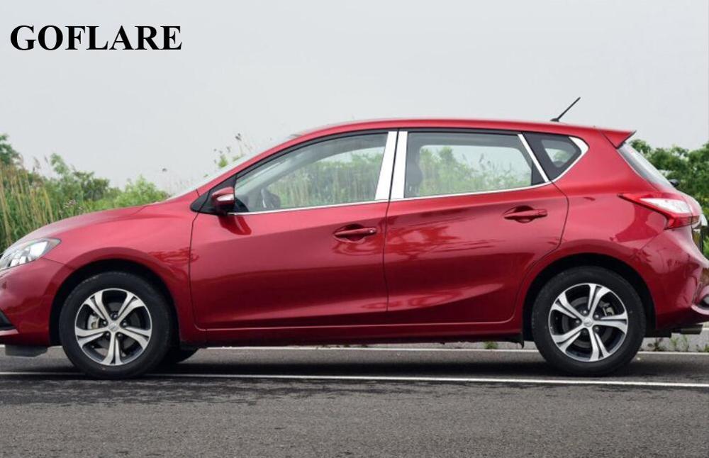Wind deflectors for Nissan Pulsar C13 2013 Hatchback 5doors front/&rear