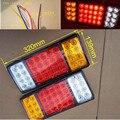 Mais novo!!! 12 V 24 V 36 LEVOU Batente Traseiro Luzes Da Cauda Do Reboque Do Caminhão Traseira Turn Signal Indicator Lamp Caravan Luz Externa
