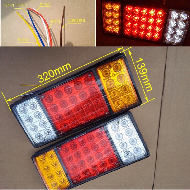 Newest !!! 12V 24V 36 LED Rear Turn Signal Truck Trailer Stop Rear Tail Lights Indicator Lamp Caravan External Light
