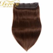 Дорин 24 inch 60 см клип в наращивание волос 160 г Малайзии не-Реми Слитные купальники для будущих мам set клип в Человеческие волосы ширина 10 дюймов с 5 Зажимы