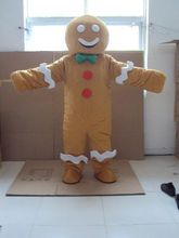 Gingerbread Man Mascot Custom Products Fancy Dress Outfit Adult Hot Selling Anime Mascot Costume Gift for Halloween Party