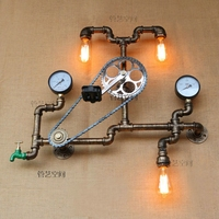 Loft Industrial wall light iron rust Water pipe retro wall lamp Vintage E27 sconce lights home lighting fixtures lustres luz