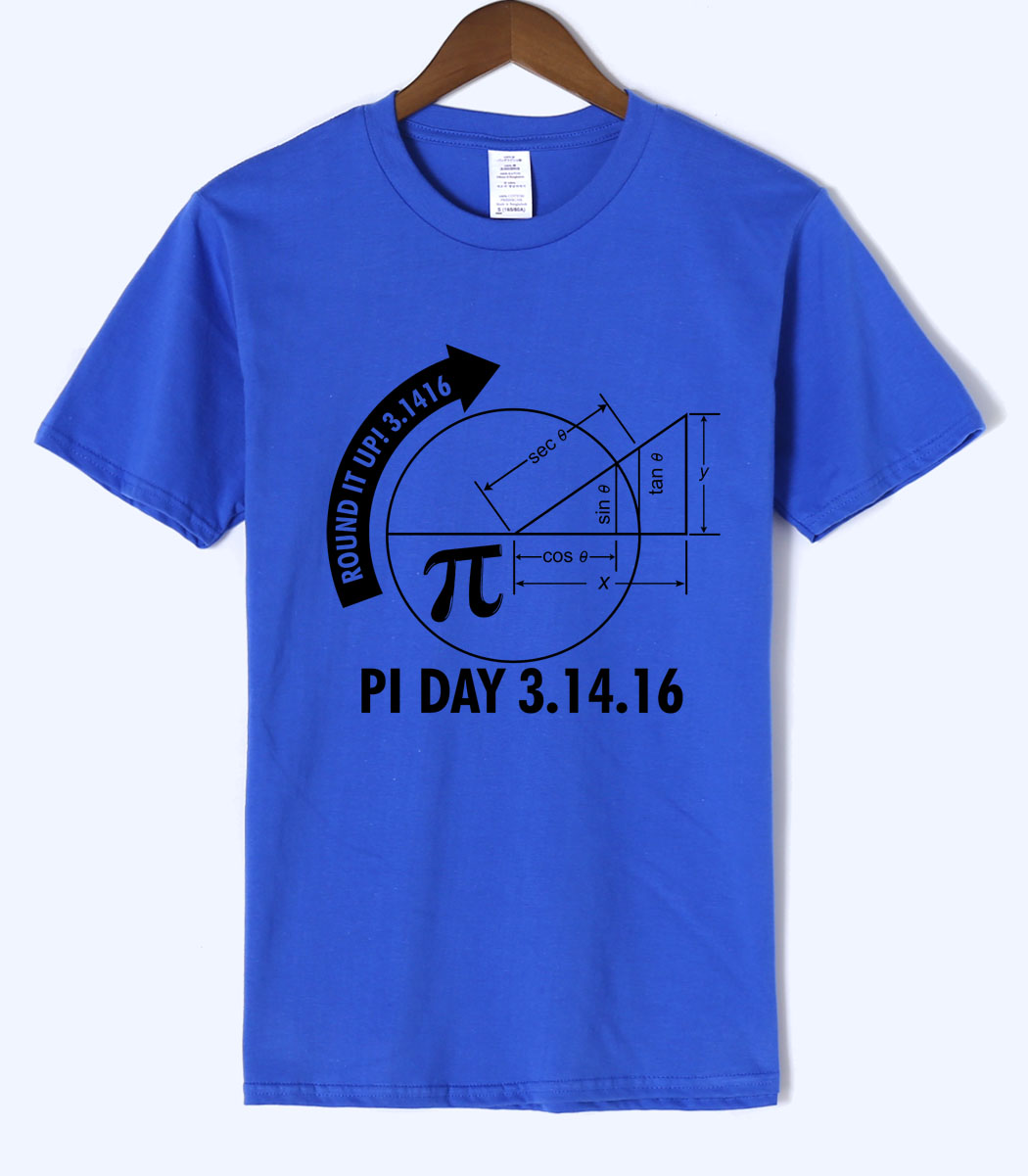 science men t shirt Math Graph And Pi 2018 summer new loose fit t-shirt Short Sleeve O-Neck 100% cotton high quality tops tee