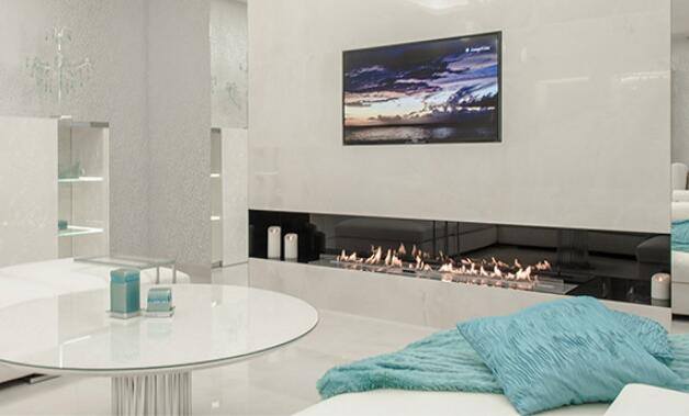 Inno Fire 48  Inch Silver Or Black Wifi Real Fire Intelligent Indoor Ethanol Fireplace Heater