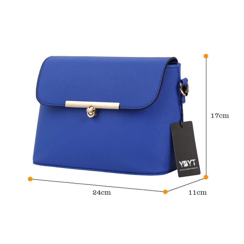 YBYT brand 2017 new high quality casual solid women flap ladies luxury PU leather satchel small shoulder messenger crossbody bag