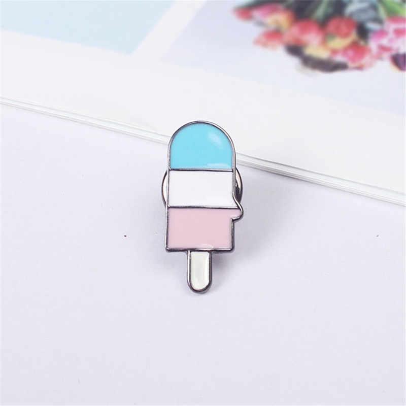XQ Miễn Phí Vận Chuyển dòng trâm gió Anh miệng ice cream đồ uống trâm vàng pin thời trang trâm cổ pinlapel pin