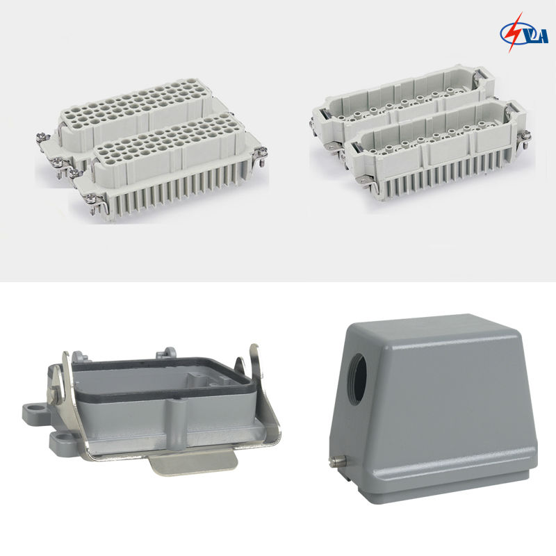 China price HD-128 10a 128 pins Power heavy duty connectors heavy duty connectors rectangular connectors runner connector air plugs hd 040 surface mounted with cover