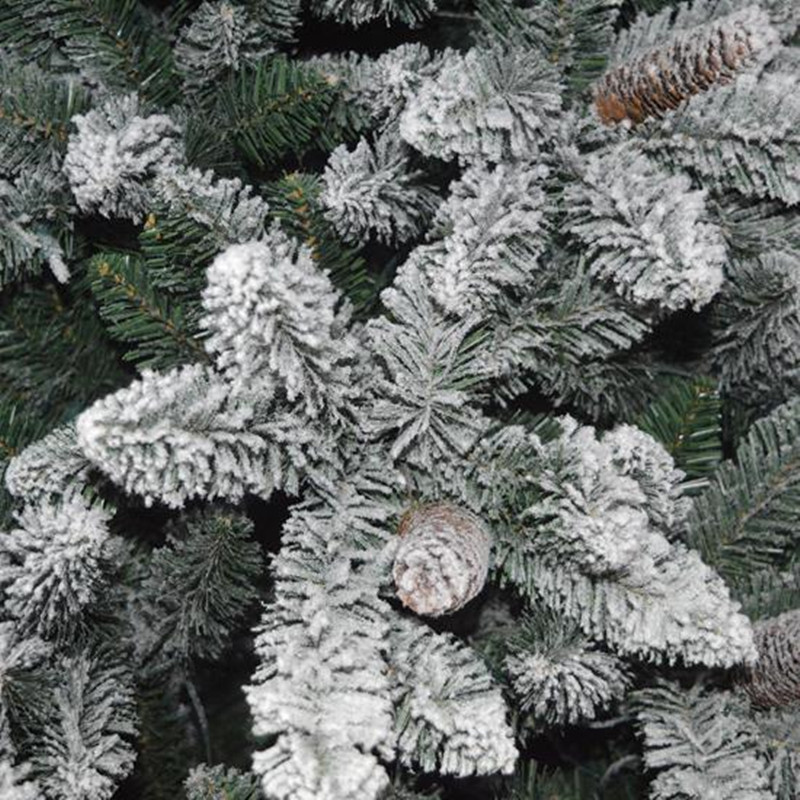 Aliexpress.com : Buy New Year Gift Flocking Christmas Tree Snowflake ...