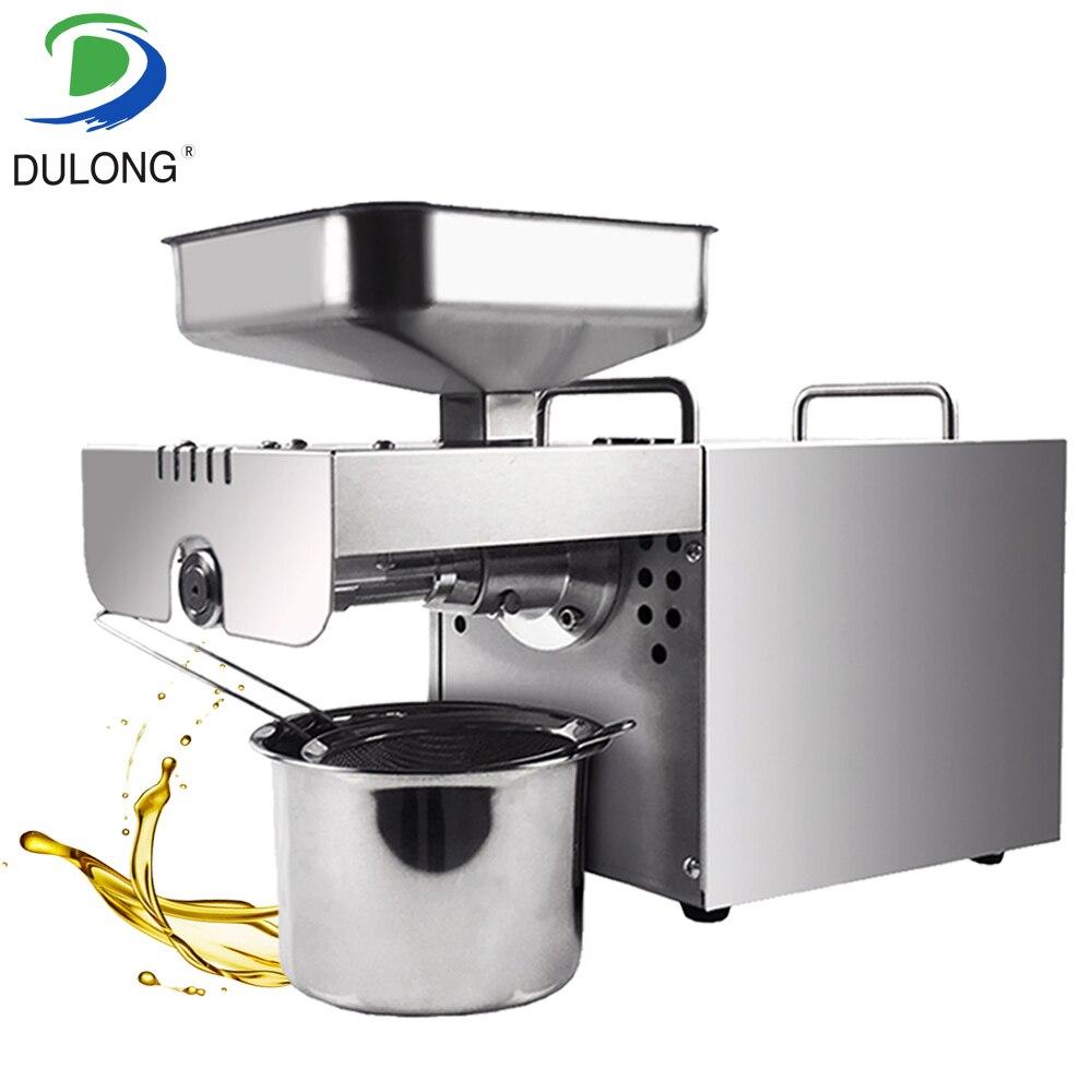 1 pièce en acier inoxydable Mini Machine d'extraction d'huile de graine Machine de presse à huile de noix de coco 110 V ou 220 V pour choisir