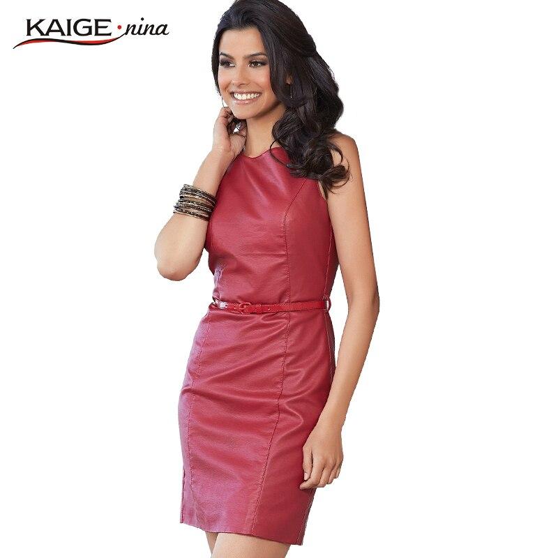 020e9fd49da2a KaigeNina yeni moda popüler ürünler zarif ve narin kadın pu moda seksi  elbise 2244