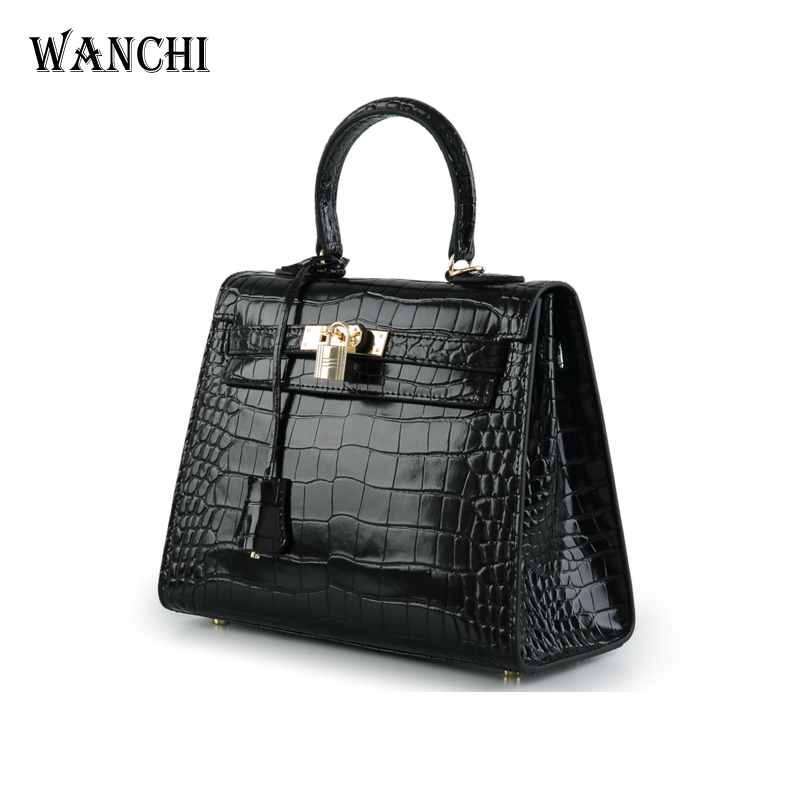 Genuine Leather Cow Leather Alligator Luxury Handbags Women Bags Designer Famous Brands Purses Crossbody Bag for Women Crocodile