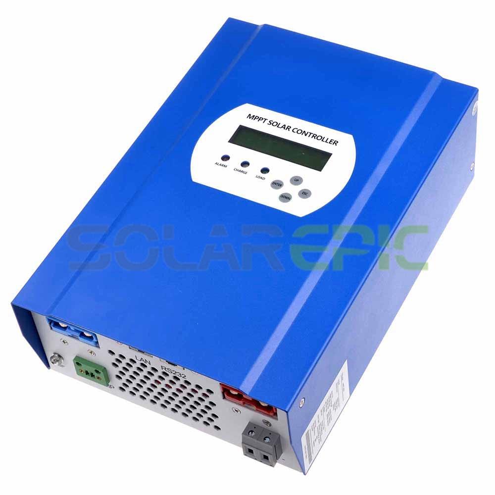60A MPPT Solar Controller 12V/24V/48V DC Auto Max 150V PV Input Battery Regulator Charger RS232/LAN Connector With LCD Display mppt solar charge controller 48v 40a 12v 24v 48v auto work with rs232 lan dc load ctrl 40a 48v pv regulator easy
