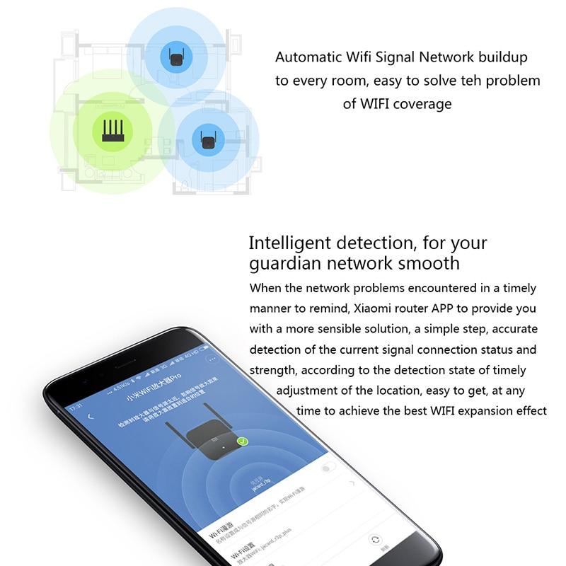 XiaoMi Wi-Fi усилитель Pro 300 Мбит/с Wi-Fi ретранслятор сигнала Amplificador расширитель Roteador Mi беспроводной маршрутизатор приложение умное управление