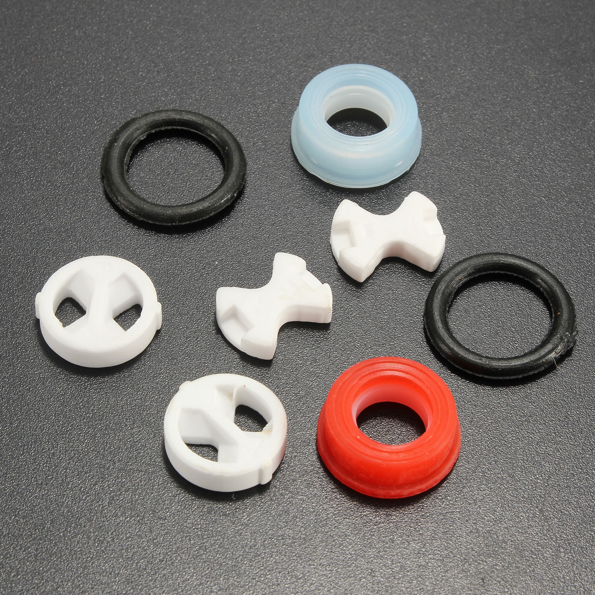 8Pcs Ceramic Disc Silicon Washer Insert Turn Replacement  1/2