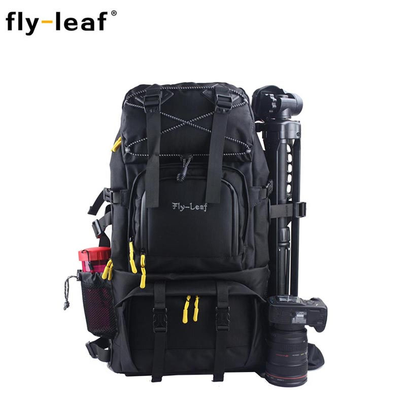 FlyLeaf FL 303D Camera Bag Double Shoulder Photo Bag Large Capacity Travel Men Women Camera Backpack