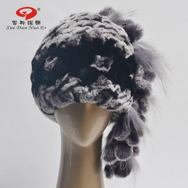 Зима осень новое прибытие настоящее меховая шапка для женщин натурального меха леди cap высокое качество природный Рекс кролика причинно и fashional b