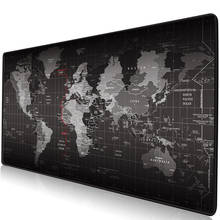 Gaming Mouse Pad Large Gamer Big Mat Computer Mousepad Rubber Surface World Map Mause Keyboard Desk Game