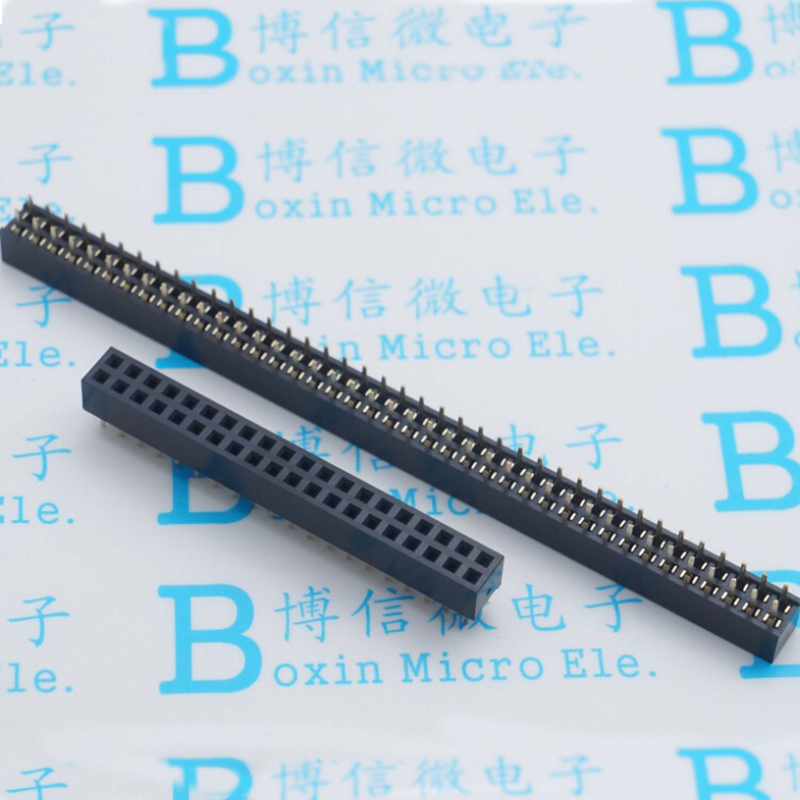 Gold Plated 2.0MM Pitch 2 * 40P Double Row Straight Female Pin Row Pin Socket