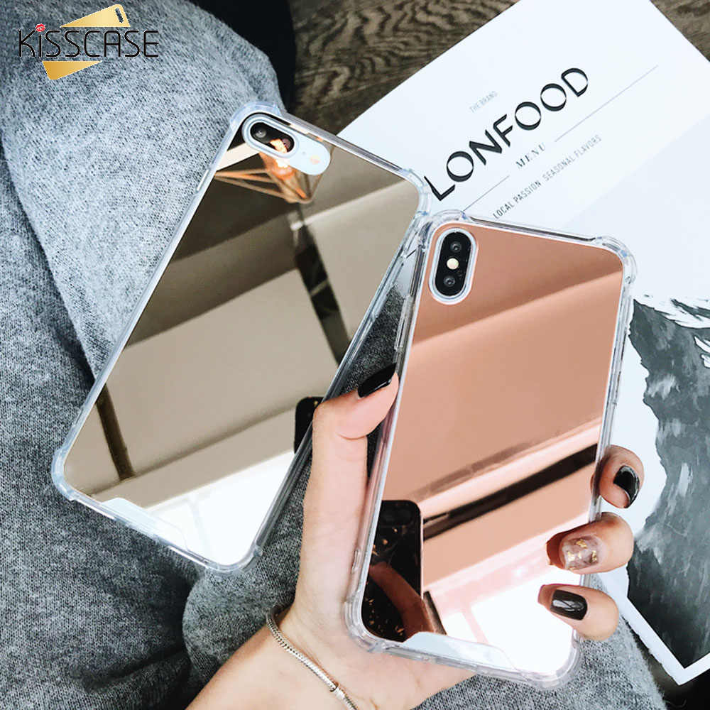 KISSCASE Plating Mirror Case For Huawei Mate 20 10 Lite P30 P20 Honor 10 Lite Pro P Smart 2019 Coque Airbag Soft TPU Phone Cover