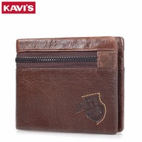KAVIS Famous Brand Men S Wallet 100 Genuine Cowhide Leather Men S Purse Casual Short Design