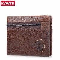 KAVIS Famous Brand Men S Wallet 100 Genuine Cowhide Leather Men S Purse Casual Short Design