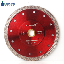 Free shipping DC SXSB04 150mm diamond porcelain saw blade 6 inch for ceramic tile cutting