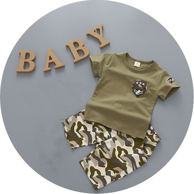 2016 Newborn Infant T-shirt+Pants 2 Pcs Coverall Camouflage Clothes Sets Children Baby Girls Boys Suits Kids Costume