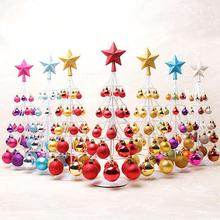 Christmas Tree Decoration Miniature Ball Tower Top Star Decorations For Home Party Gift bolas