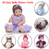20 Styles Npk Collection bebe reborn dolls silicone 55 cm new born baby doll toys for girls Play House Toys reborn bebe dolls
