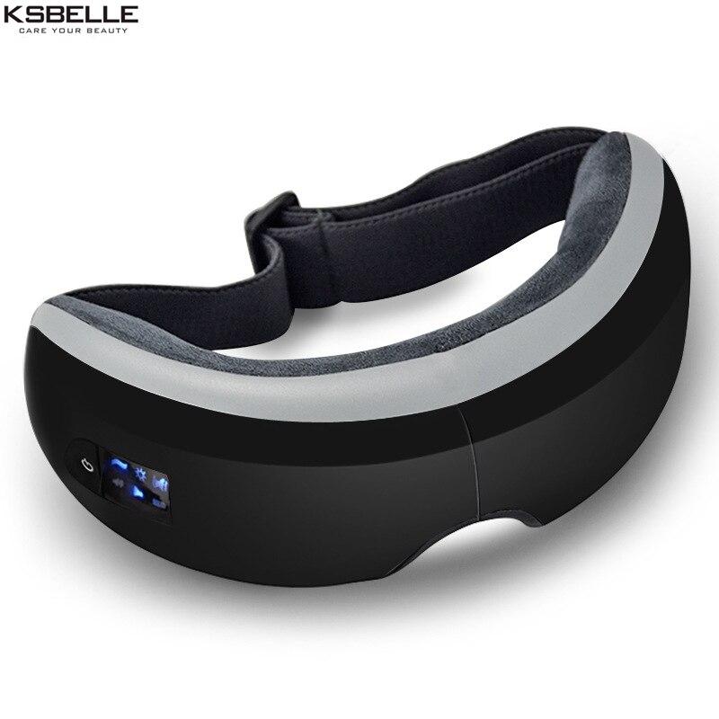 Беспроводной цифровой массажер для глаз с тепловой сжатия воздуха Давление музыка и глаз Средства ухода за мотоциклом стресса очки masajeador д...