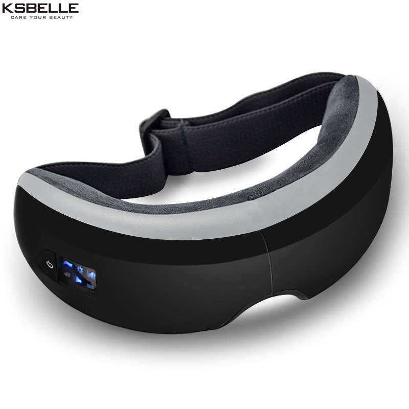 Wireless Digital Eye Massager with Heat Compression Air Pressure Music & Eye Care Stress Relief goggles masajeador de ojos free shipping new air pressure eye massager with mp3 6 functions dispel eye bags eye magnetic far infrared heating eye care