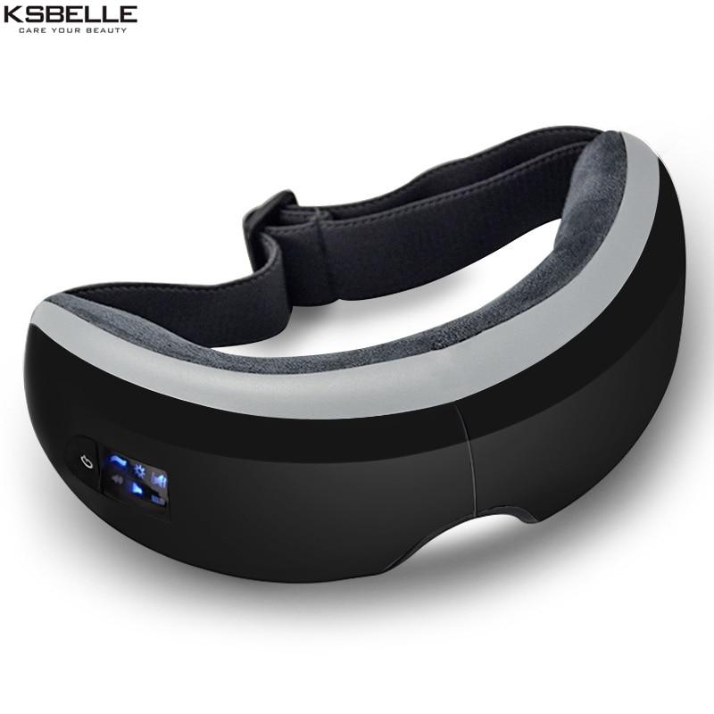 Wireless Digital Eye Massager with Heat Compression Air Pressure Music & Eye Care Stress Relief goggles masajeador de ojos