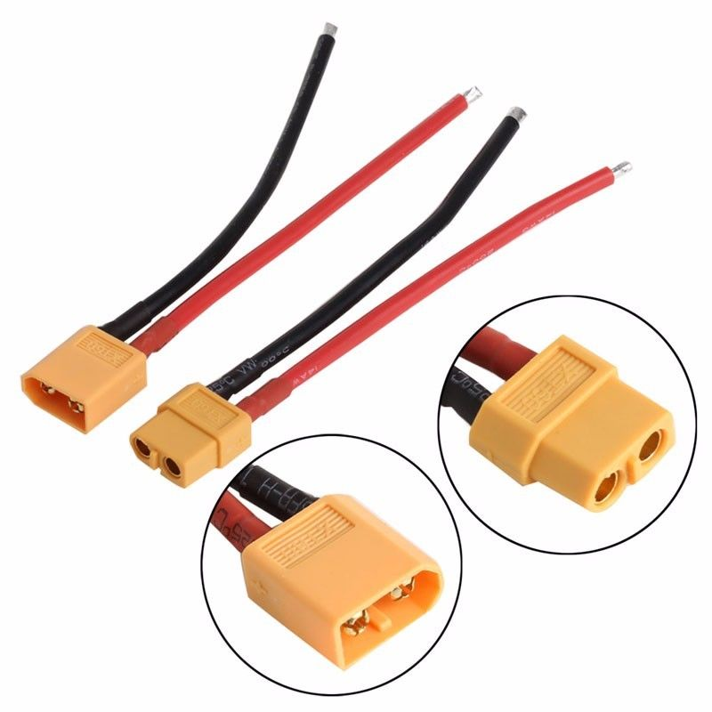 2 pcs of XT60 Battery Male Female Connector Plug with Silicon 14 AWG Wire аккумуляторная дрель шуруповерт bort bab 12n 7 p