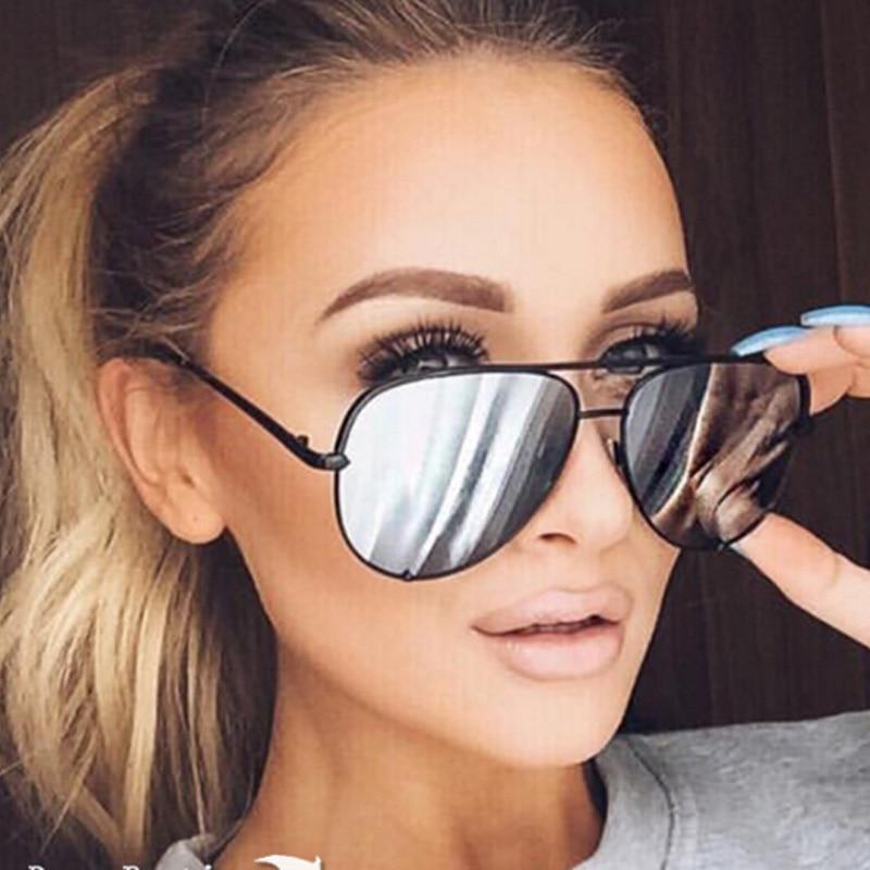 a7552e78b HDSUNFLY Fashion Aviation Sunglasses For Women Men Driving Eyewear Black  Frame Male Female Mirrors Coating Sun