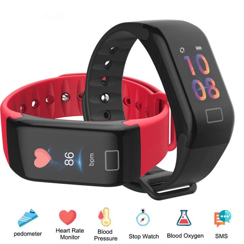 F1 Plus Color Screen Smart Bracelet Blood Pressure Heart Rate Monitor Message Push Smart Band Sports Fitness Tracker Wristband цена и фото