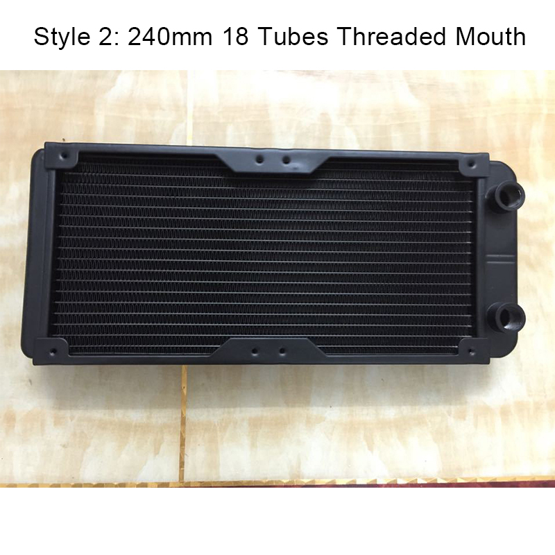 Image 2 - 240mm 18 Tubes Straight Threaded Mouth Water Cooling Row Radiator Heat Exchanger Computer PC Cooling Row Industrial Row-in Fans & Cooling from Computer & Office