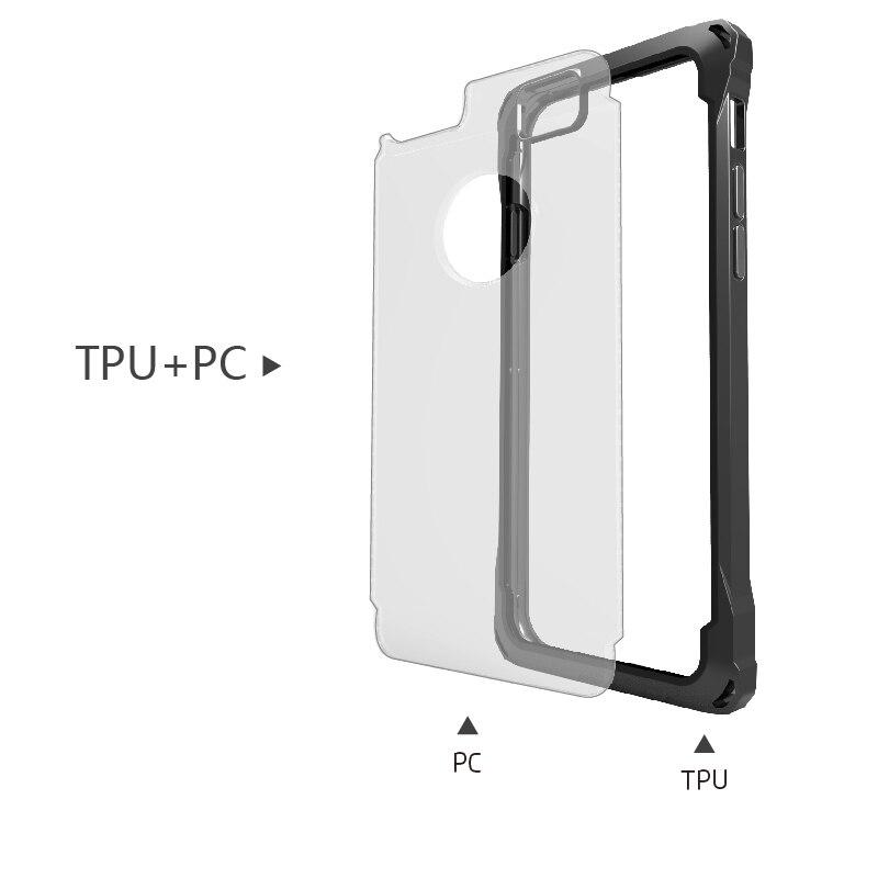 ITEUU Anti-knock Hard Case för iphone 6 6S Fodral Stötsäker Klar - Reservdelar och tillbehör för mobiltelefoner - Foto 6