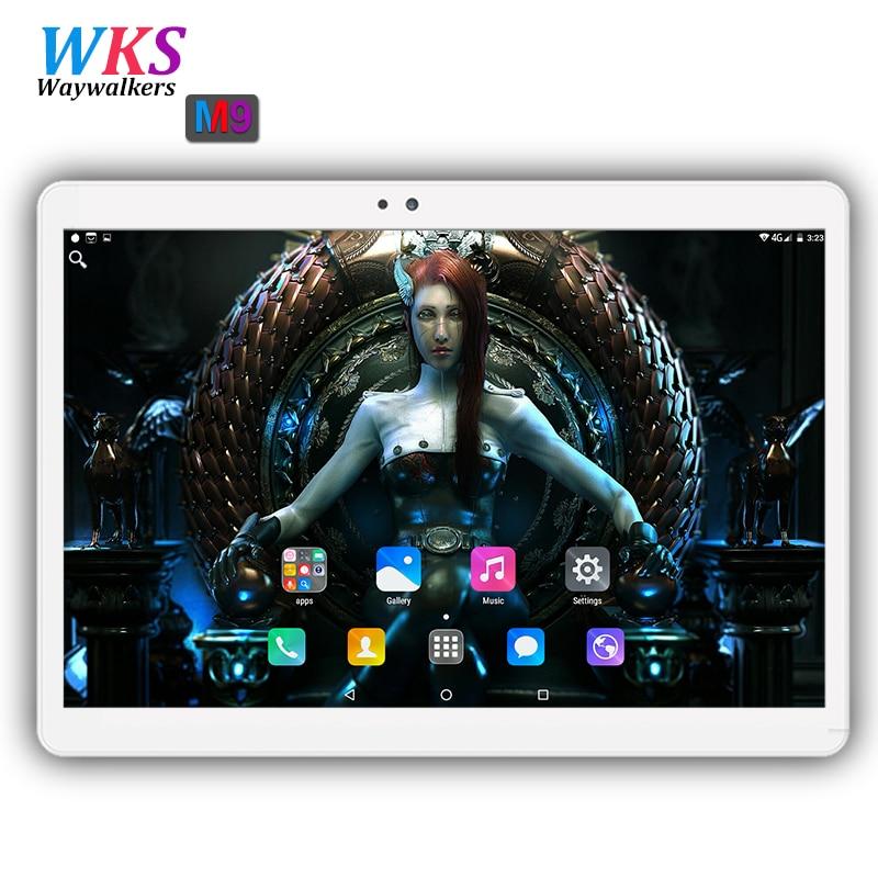 Здесь продается  2018 Global 10 inch Android 7.0 tablet pc 4GB+64GB Dual SIM card WIFI Bluetooth 1920*1200 IPS tablets pc free shipping 10 10.1  Компьютер & сеть