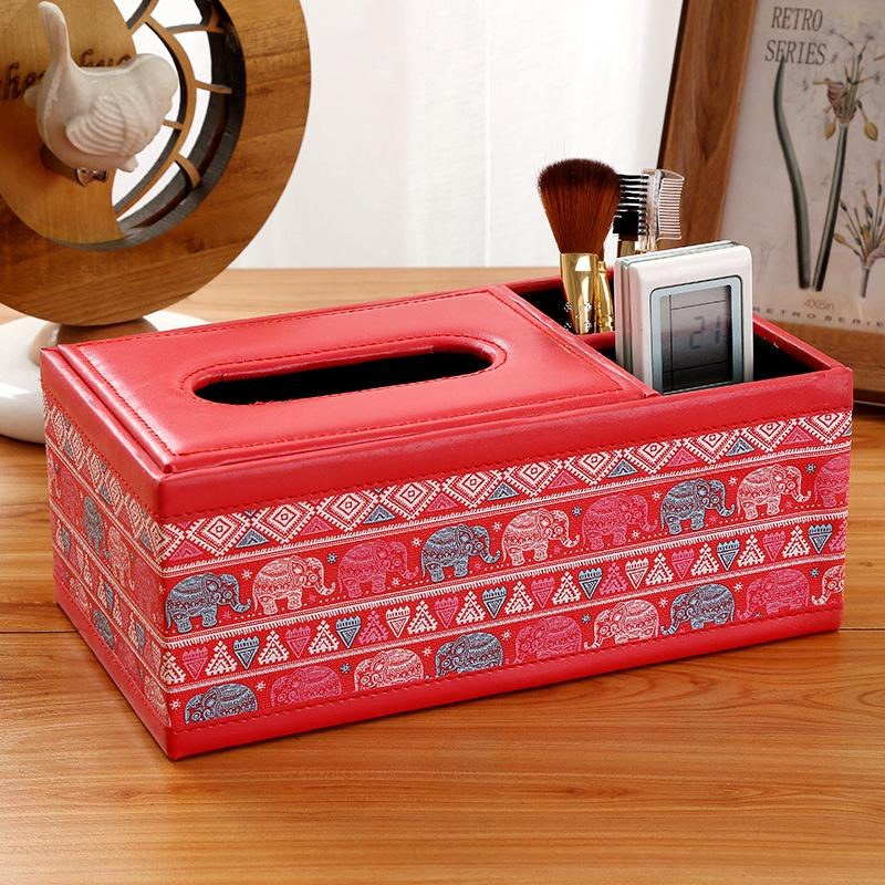 Image 3 - New Fashion Wooden Tissue Roll Paper Wooden Tissue Box Home Bathroom Car Tissue Box Container Vintage Style Storage Box-in Tissue Boxes from Home & Garden